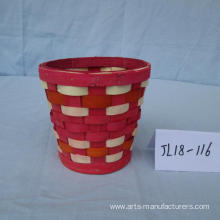 Multi-color Wood Chip Basket